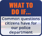 Common Questions for the Sturgeon Bay Police Department